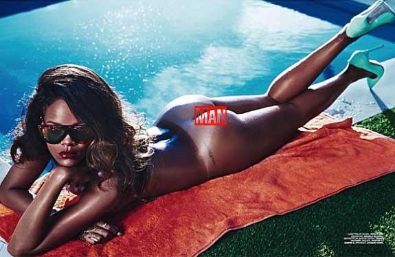 Rihanna Lui Magazine Nude Naked Boobs