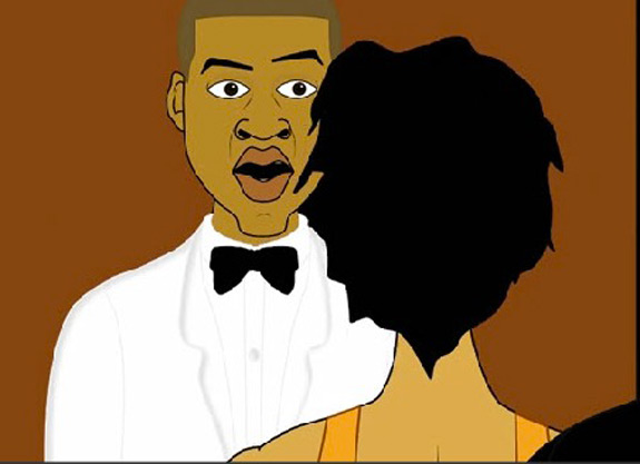 Solange Attacks Jay Z Cartoon