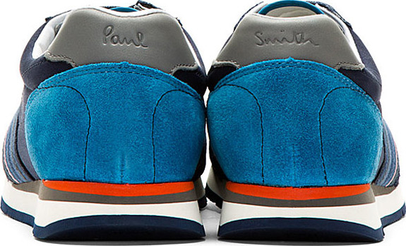 Paul Smith Jeans Blue Suede Paneled Moogg Sneakers