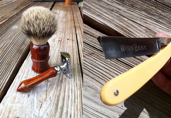 Wet Shaving Kit Soft Brush Double Edge Razor
