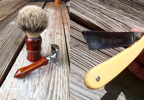 Wet Shaving Kit Soft Brush Double Edge Razor
