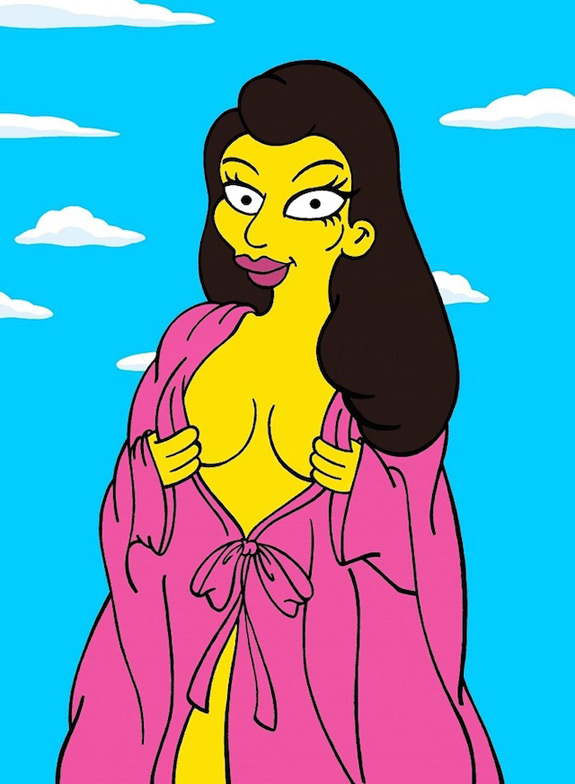 Kim Kardashian Simpsons Cartoon Character