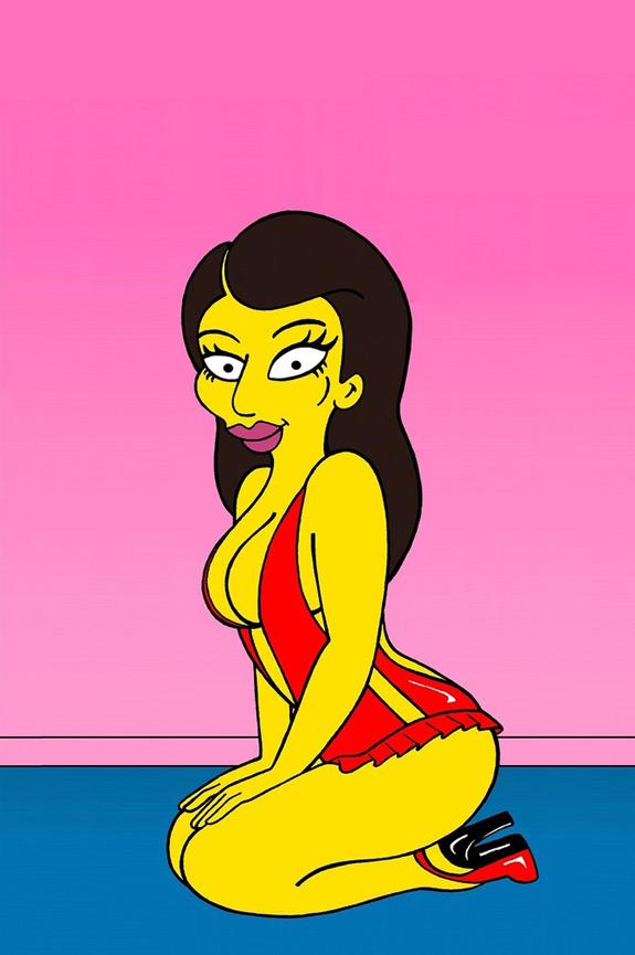 Kim Kardashian Simpsons Cartoon Character