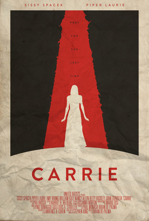 Alternative Minimalist Movie Posters Carrie