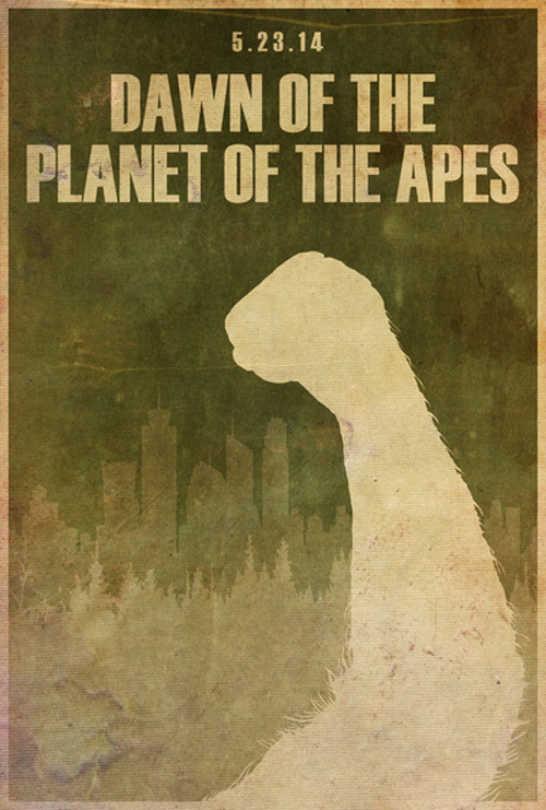Alternative Minimalist Movie Posters Dawn Planet Apes