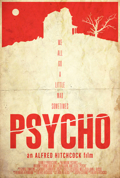 Alternative Minimalist Movie Posters Psycho