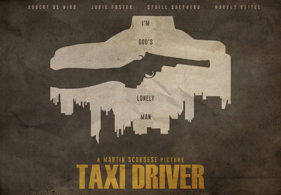 Alternative Minimalist Movie Posters Taxi Driver