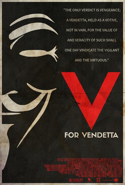 Alternative Minimalist Movie Posters V Vendetta