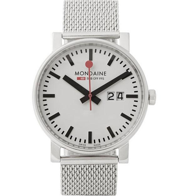 Mondaine Evo Big Date Stainless Steel Watch