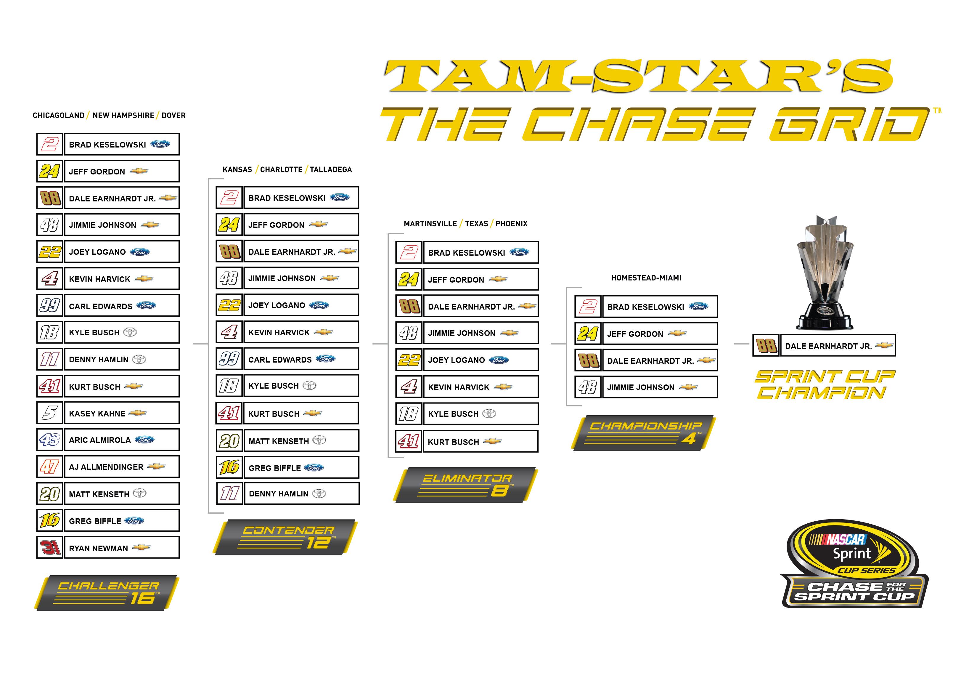 Tam Star 2014 Nascar Chase Grid