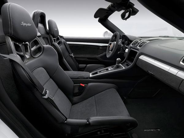 2016 Porsche Boxster Spyder Interior
