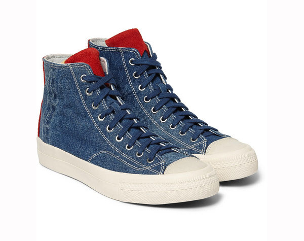 Visvim Skagway Denim Suede Sneakers