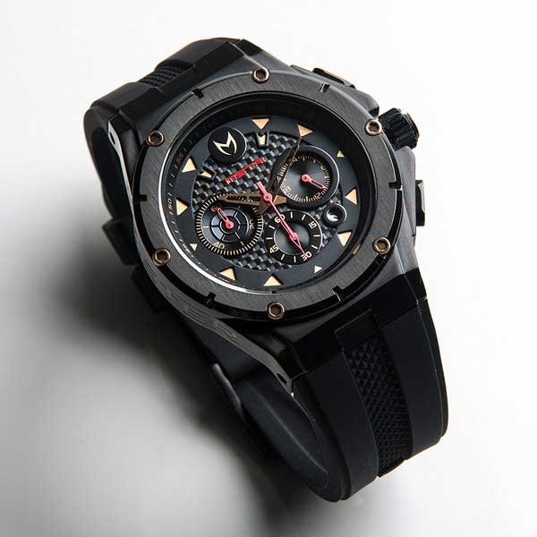 Meister Ambassador MKIII Stainless Steel Black Red Rose Gold 2