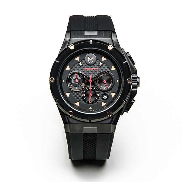 Meister Ambassador MKIII Stainless Steel Black Red Rose Gold