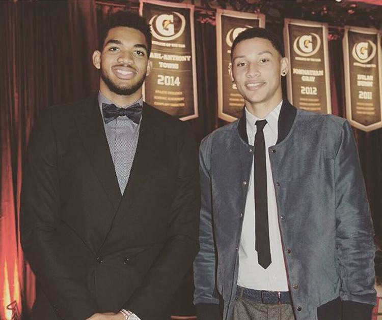 Karl Anthony Towns and Ben Simmons