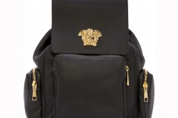 Versace Black Leather Medusa Backpack