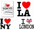 I Love LA Japan NY Logo