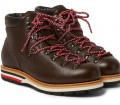 Moncler Peak Full Grain Leather Hiking Boots