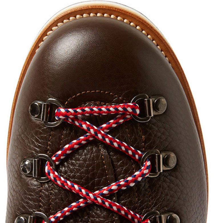 Moncler Peak Full Grain Leather Hiking Boots