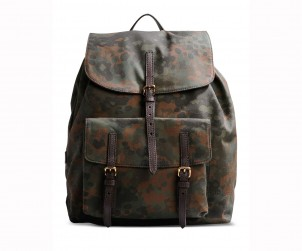 Burberry Prorsum Military Green Camo Backpack