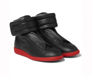 Maison Margiela Future Leather High Top Sneakers
