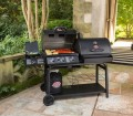 Char Griller Duo Black Burner Liquid Propane Gas Grill
