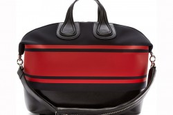 Givenchy Black Red Striped Neoprene Nightingale Tote