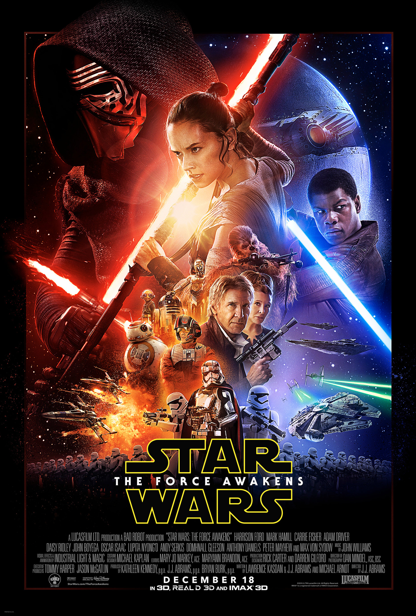 Star Wars Force Awakens Official Poster