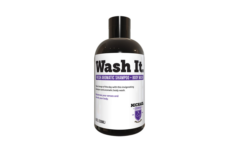 Michael Essentials Grooming Wash It Shampoo Body Wash