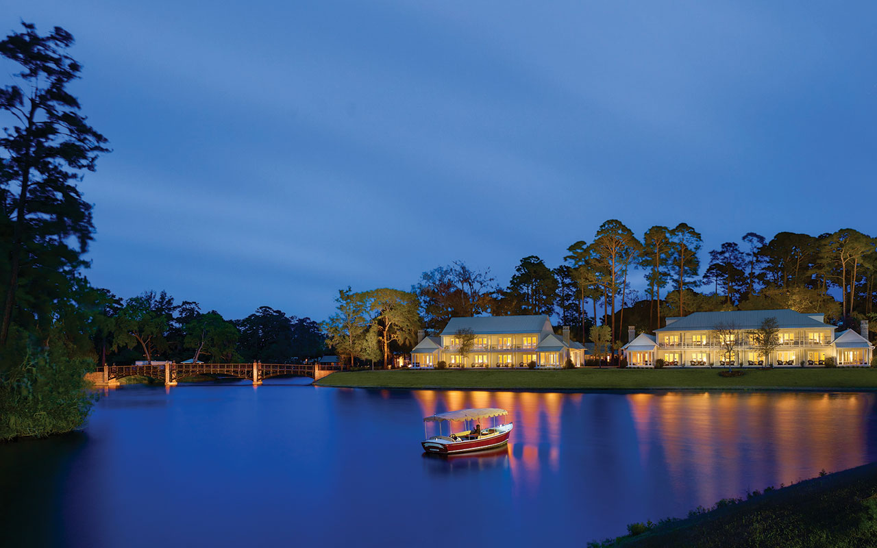 Montage Palmetto Bluff Hotel Lagoon Guest House Night
