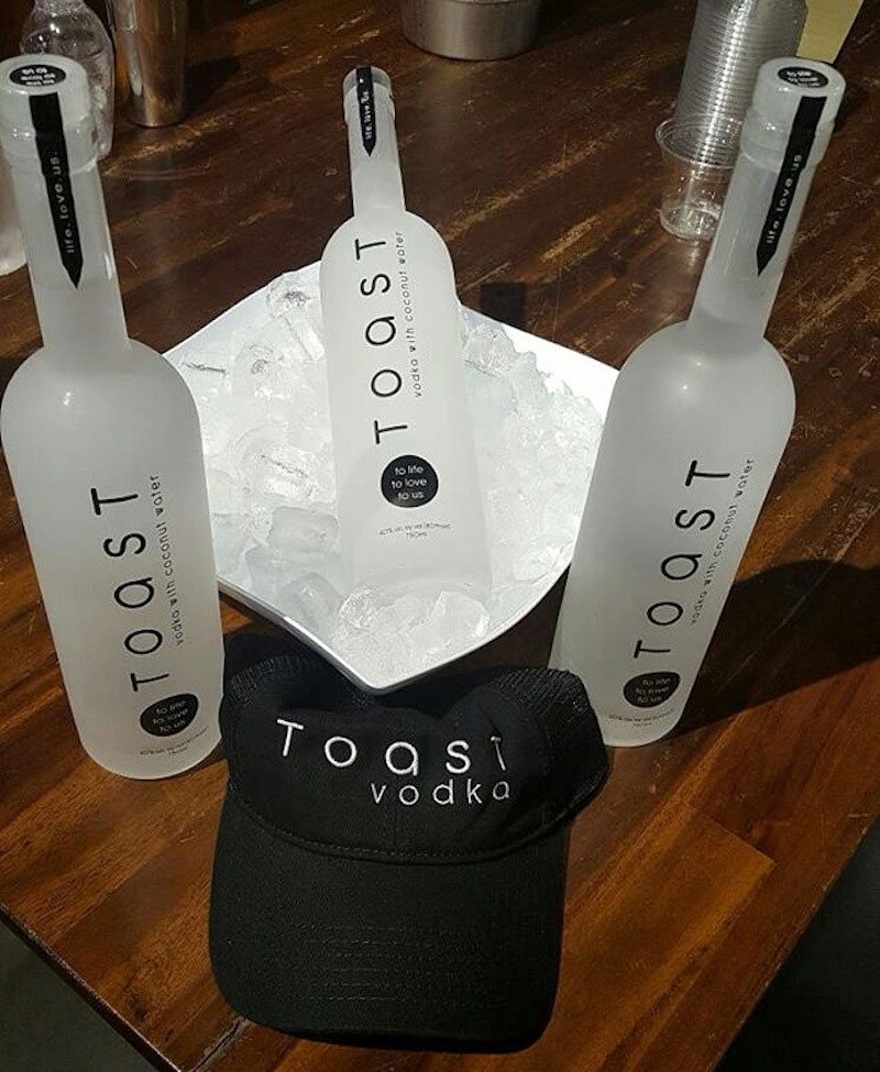 Toast Vodka Bottles
