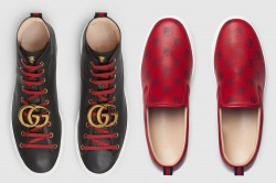 Gucci Leather Sneaker With GG