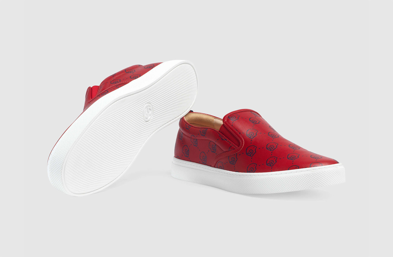 Light GucciGhost Slip On Sneaker Red 2