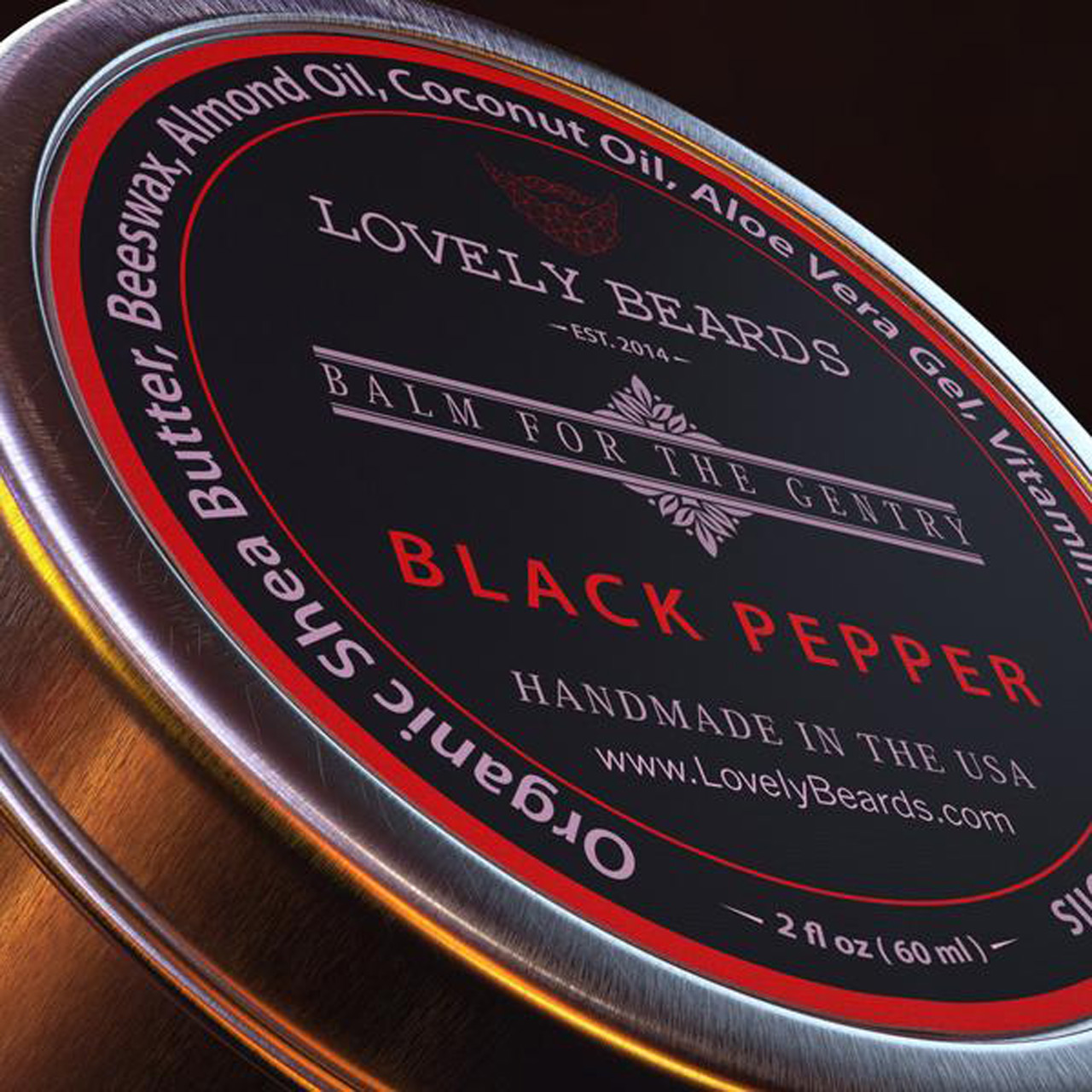 Lovely Beards Tin Black Pepper