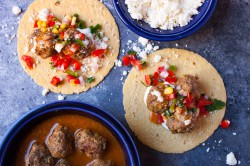 Macheesmo Enchilada Meatball Tacos Feature