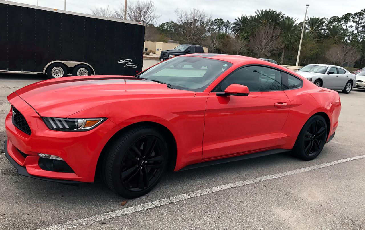 Ford Mustang Orange 2