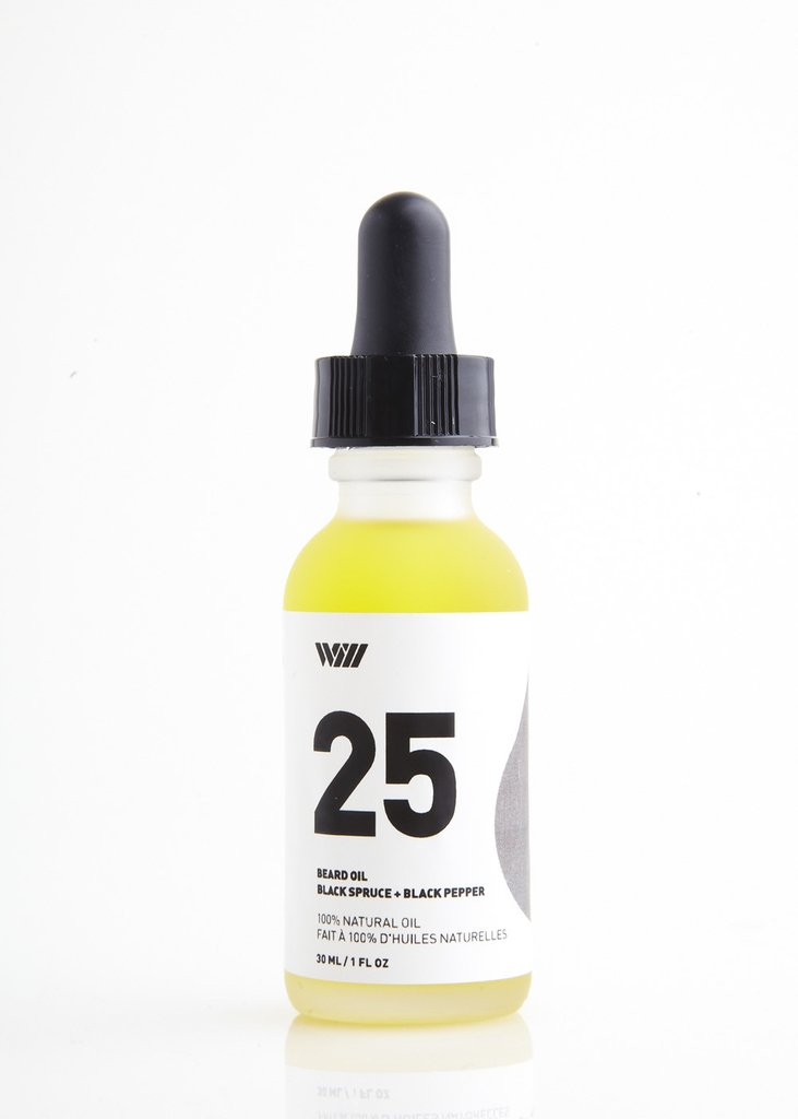 Way Of Will 25 Black Spruce Black Pepper Beard Oil