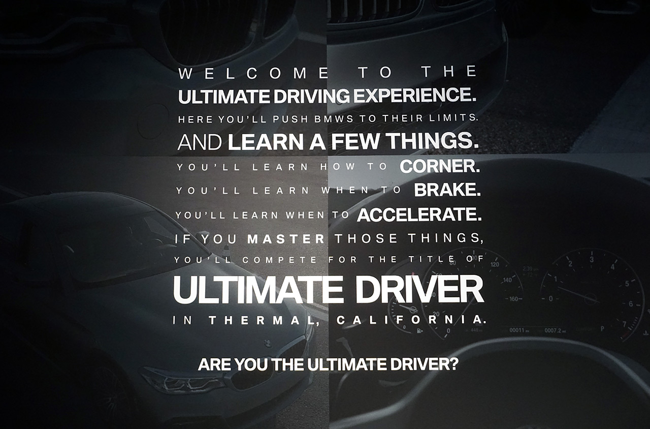 Bmw Ultimate Driver Ultimate Experience