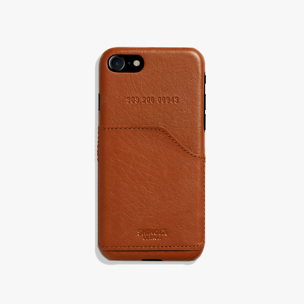 Shinola Leather Wrapped Iphone 7 Case Pocket