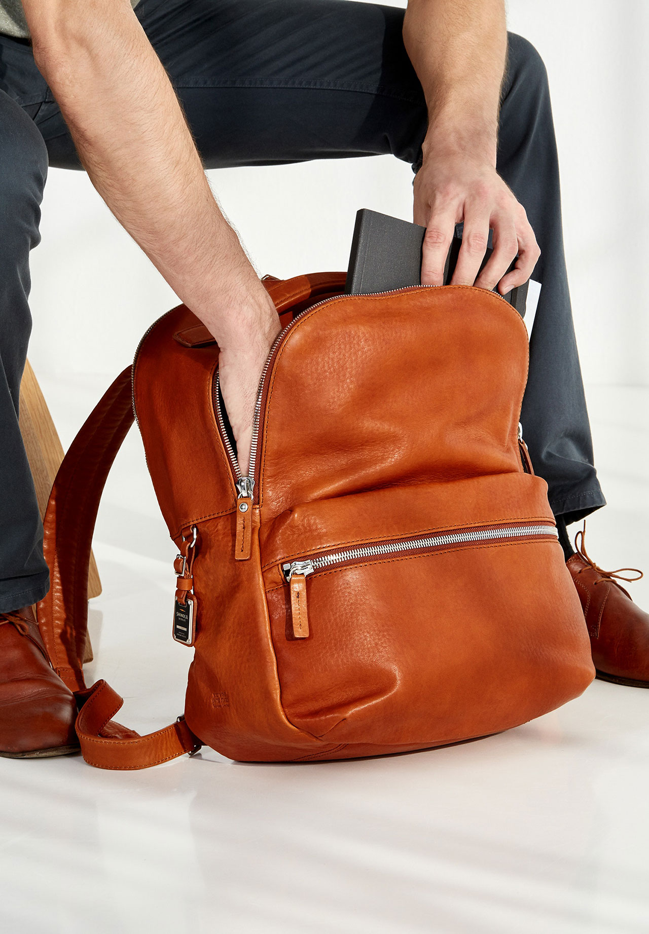 Shinola Runwell Leather Backpack 3
