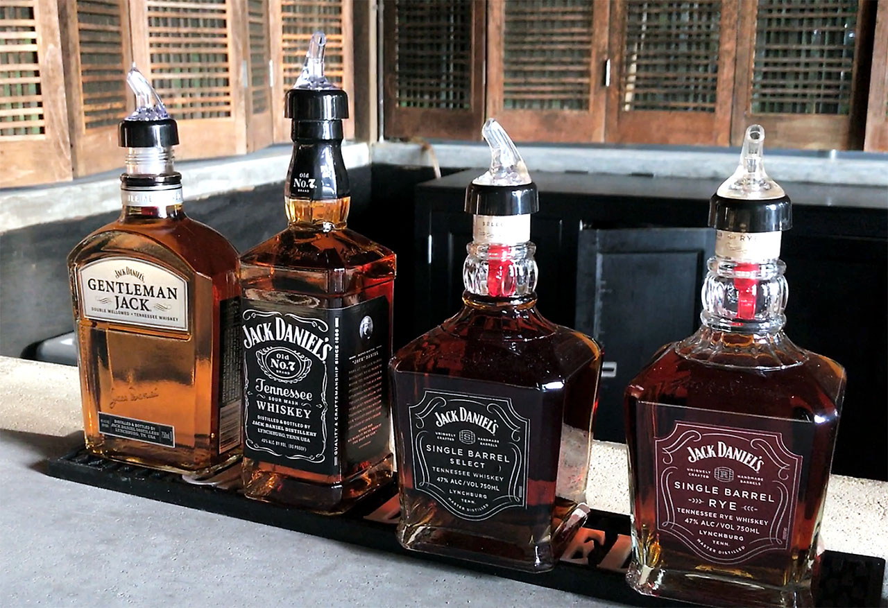 Jack Daniels Whiskey Selection