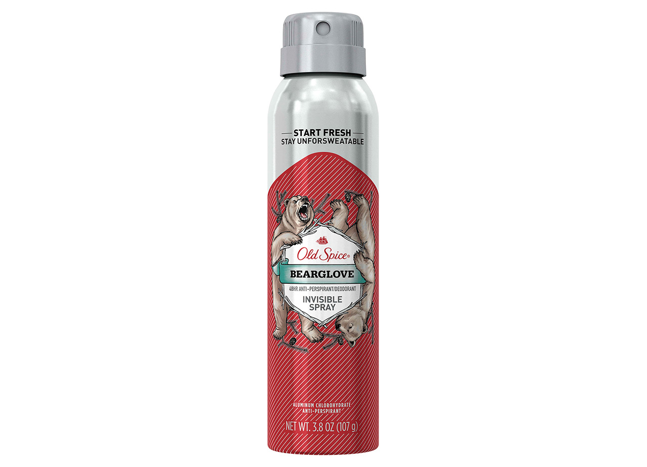 Oldspice Bearglove Invisible Spray Deodorant And Antiperspirant