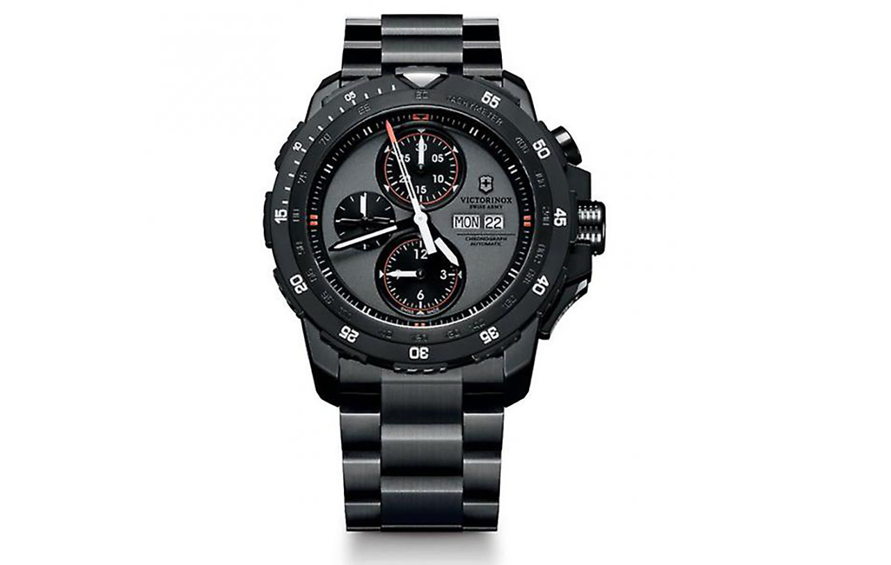 Victorinox Swiss Army Alpnach Black Stainless Steel Chronograph Watch