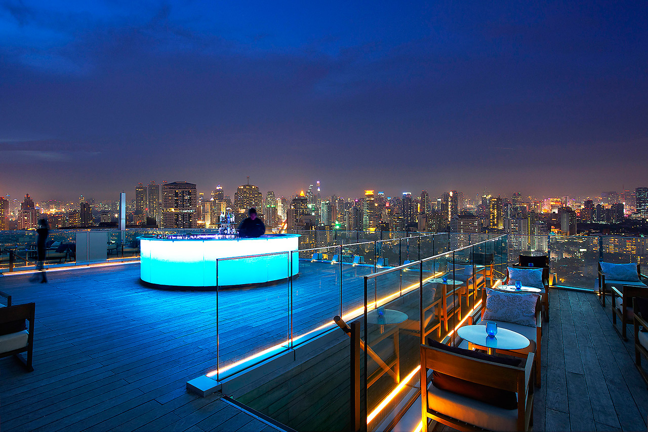 Marriott Bangkok Octave Bar Lounge View Top 4
