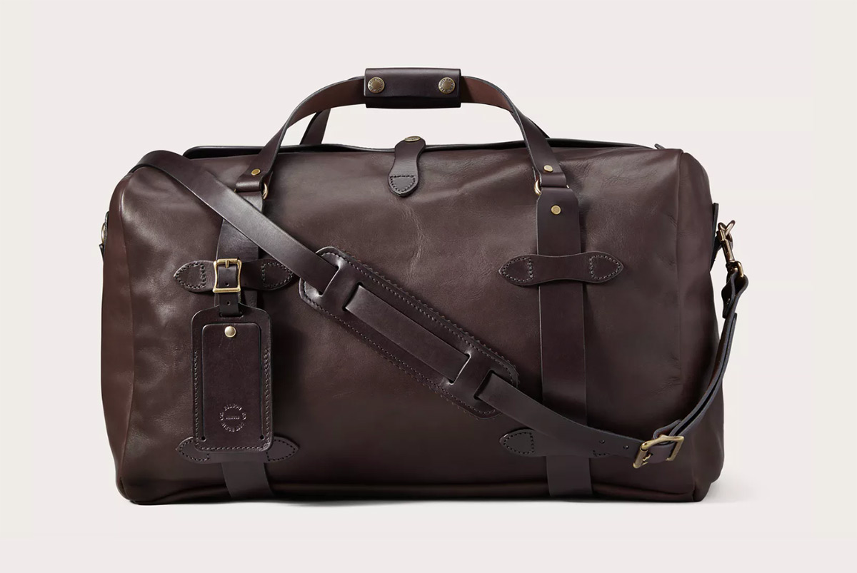 Filson Weatherproof Leather Duffle Bag