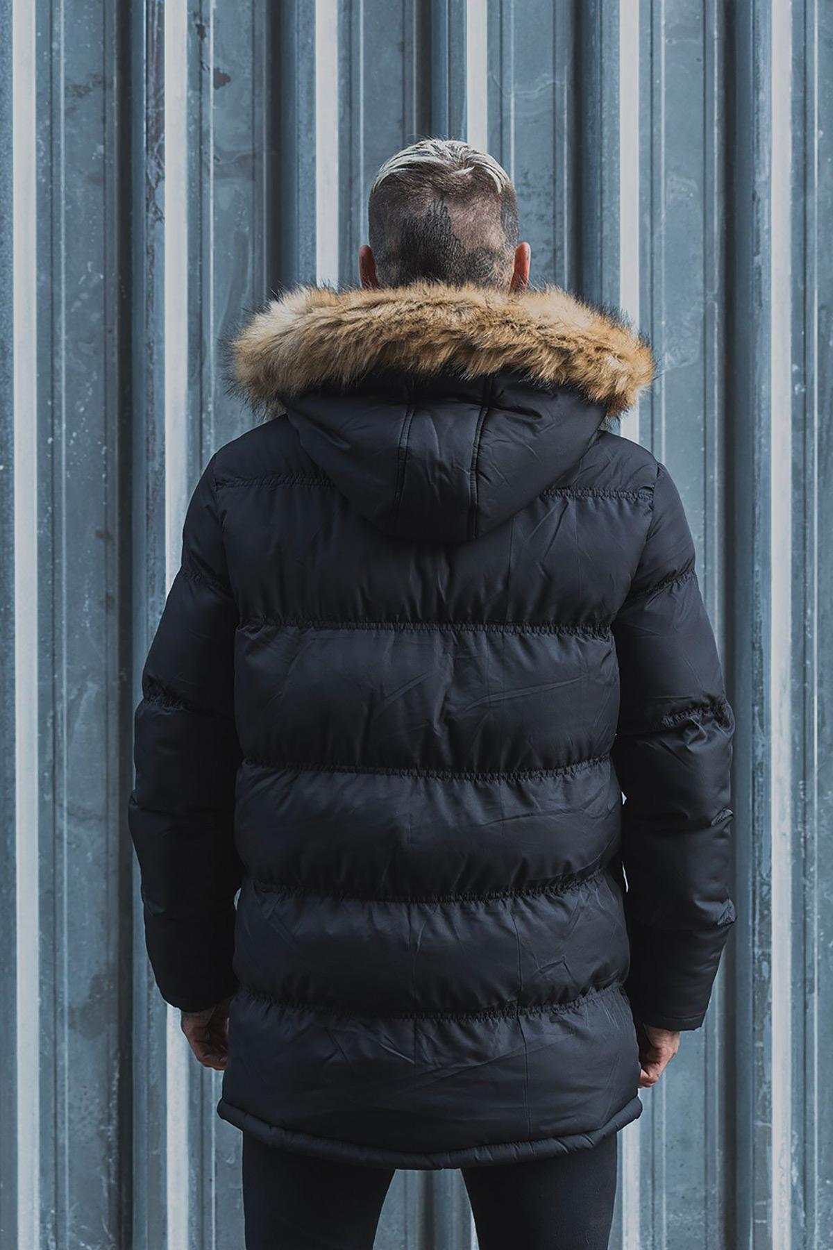 Attire Black Arctic Puffer Jacket