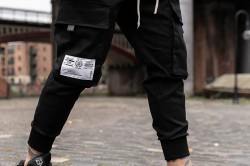 Attire Black Cargo Utility Pants